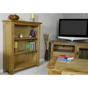 Westbury Rustic Oak Half Bookcase