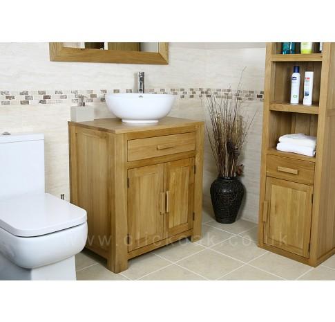 Solid Oak Bathroom Vanity Unit