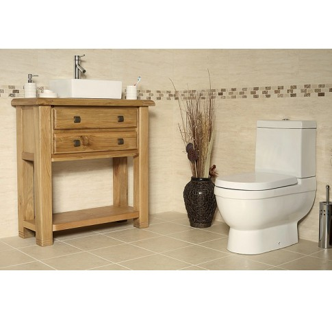 Ohio Rustic Oak Bathroom Vanity Cabinet