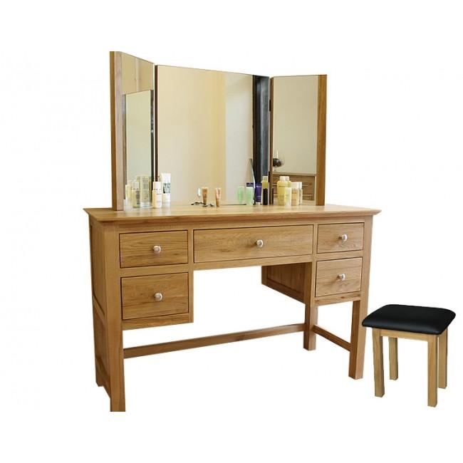 Glenmore Solid Oak Dressing Table Set | Click Oak