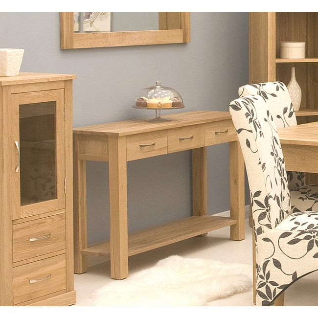 mobel oak compact console table