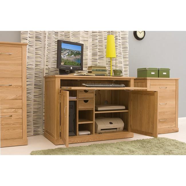 Mobel Oak Hidden Home Office Pc Desk Click Oak