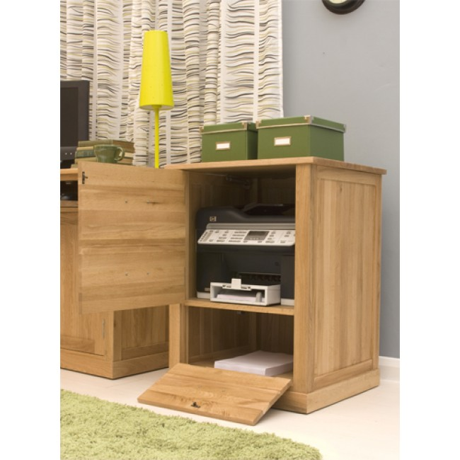 Exceptionnel Compact Oak Printer Storage Unit