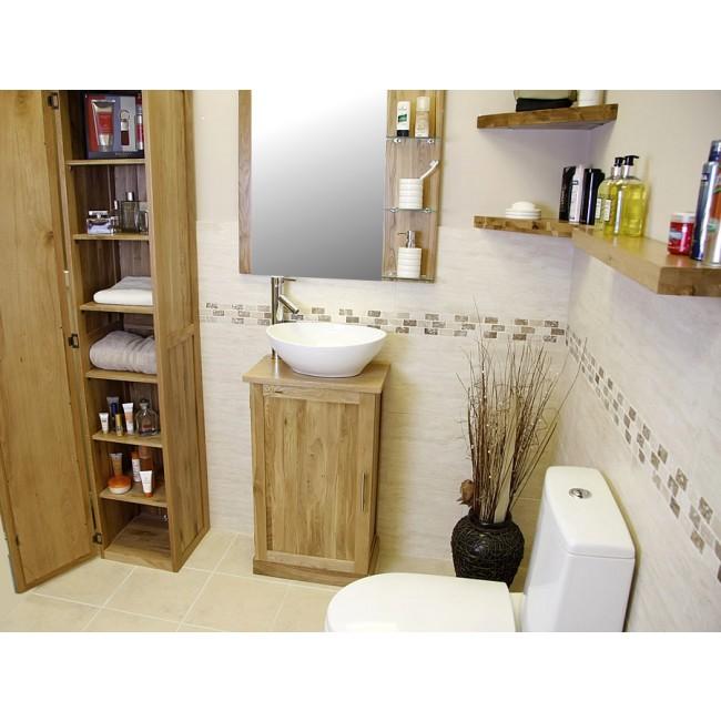 Atla slimline compact oak bathroom vanity unit click oak light oak bathroom vanity unit aloadofball Gallery