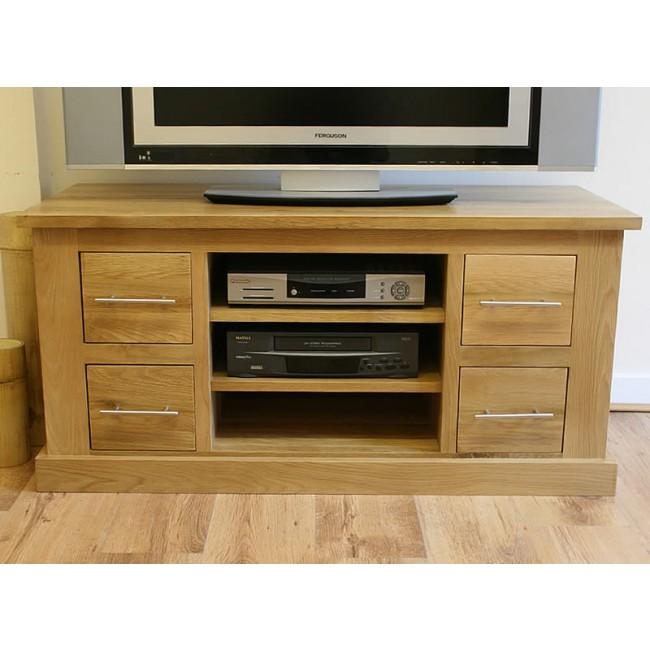 Delamere Light Oak Tv Stand With Dvd Storage Click Oak