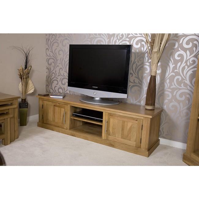 Delamere Solid Oak Plasma Lcd Tv Stand Click Oak