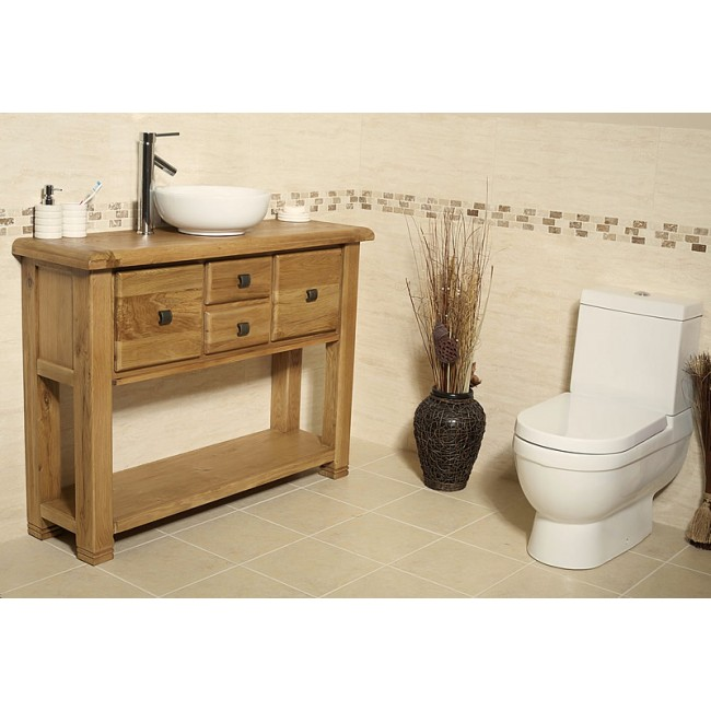 rustic oak bathroom furniture. Ohio Rustic Oak Vanity Unit Bathroom Cabinet  Click