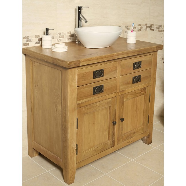 Valencia Rustic Oak Bathroom Vanity