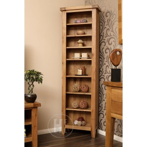 Rustic Oak Narrow Bookcase
