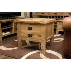 Rustic Oak Hifi Media Storage Unit