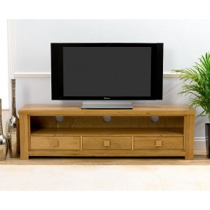 Barcelona Solid Oak TV Stand