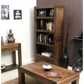 Shiro Furniture Walnut Tall Bookcase