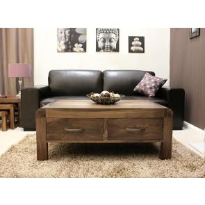 Shiro Walnut Living Room Furniture Coffee Table