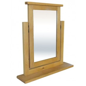 Chunky Oak Bedroom Trinket Mirror
