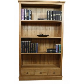 Glenmore Oak Bookcase with Oak Storage