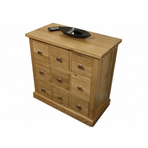 Solid Glenmore Oak DVD Storage Unit