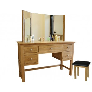 Glenmore Light Oak Dressing Table Set