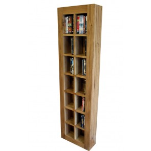 Glenmore Tall Free Standing DVD Storage Unit