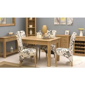 Mobel Light Oak Dining Table Set