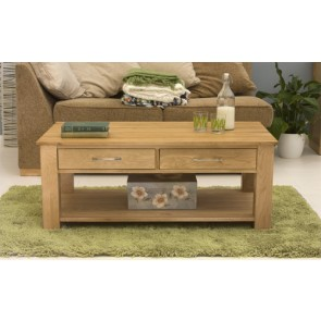 Solid Mobel Oak Coffee Table with Internal Storage