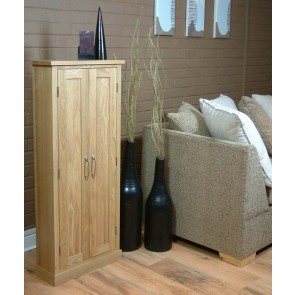 MobelOak Tall Upright DVD Storage Unit