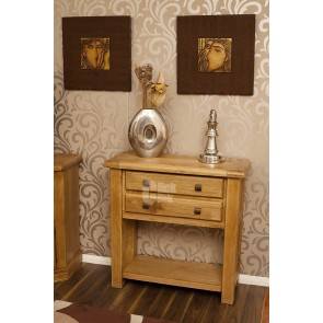 Danube Weathered Oak Small Console Table