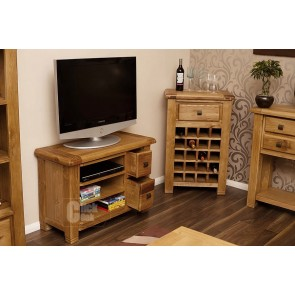 Danube Weathered Oak Compact Tv Stand