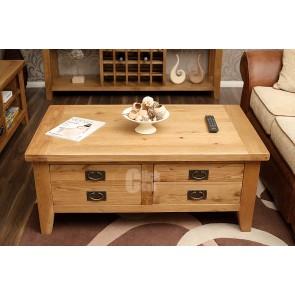 Vancoover Rustic Oak Coffee Table