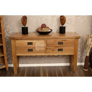 Vancoover Rustic Oak Console Table