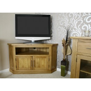 Light Oak Corner TV Stand