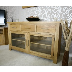 Delamere Glazed Oak Sideboard - 1140