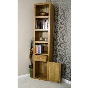 Delamere Tall Oak Storage Unit