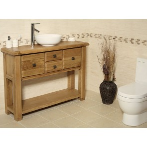 Ohio Rustic Oak Vanity Unit