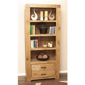 Olso Rustic Oak Tall Bookcase