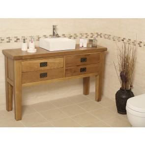 Valencia Rustic Oak Bathroom Vanity
