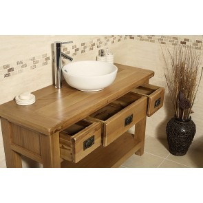 Rustic Oak Vanity Unit from the Valencia Range
