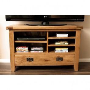 Rustic Oak Compact TV Stand