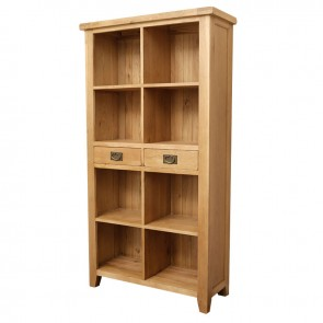 Vancoouver Rustic Oak Tall Bookcase