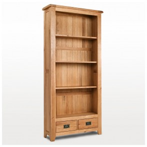 Westbury Rustic Oak Free Standing Bookcase - CO-CB013