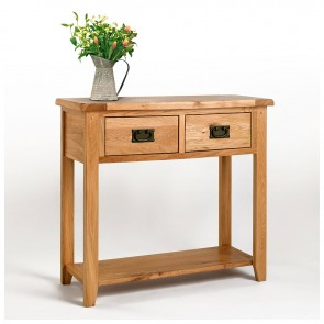 Westbury Rustic Oak Console Table - CO-CB11