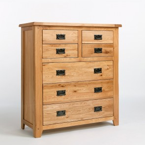Westbury Rustic Oak Bedroom Chest Of Drawers - CB22