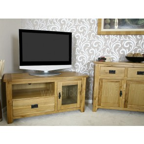 Westbury Solid Rustic Oak TV Stand