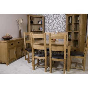 Westbury Rustic Oak Dining Table and Chairs