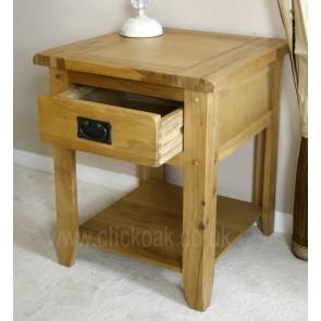 Westbury Rustic Oak Lamp End Table